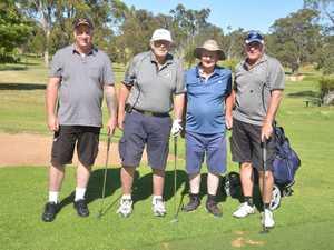 Hitting off in Langham Slashers Social Golf Club play