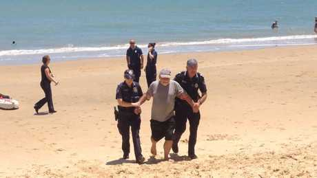 SUPERBOATS PROTEST: Marine scientist and activist Lee Carter was also arrested for protesting the event, at Scarness beach on Sunday.