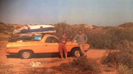 Former Coast surfer Les Norish (left) and his mate Russell