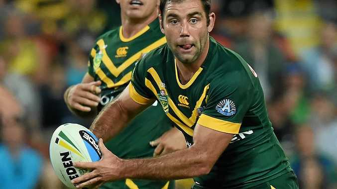 Australian captain Cameron Smith in action for the Kangaroos.