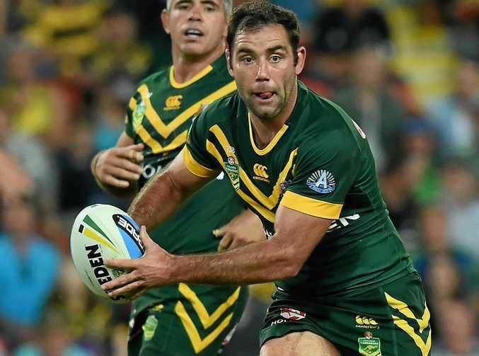 Australian captain Cameron Smith in action for the Kangaroos.