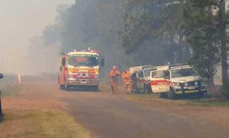 The bushfire near Calavos.