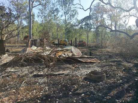 What's left of Spike's Hut at Yabba Kenilworth Imbil fire.