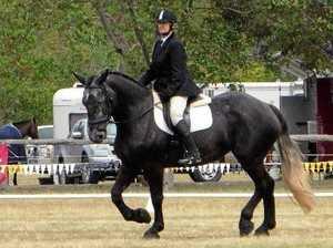 Caroline's still 'ride' at home with her beloved horses