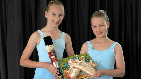 CENTRE STAGE: Charlotte Baker, 12, and Sarah Tempest, 11, are two finalists in the Suncopr Wish Upon a Star competition where they could win a walk-on role with the Queensland Ballet in The Nutcracker.