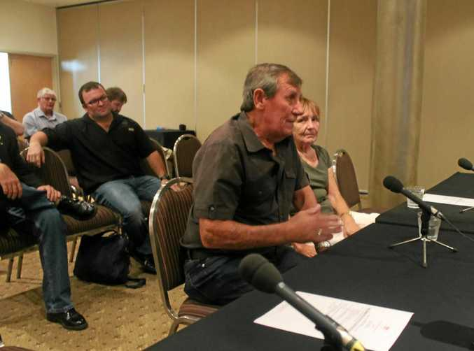 Black lung victim Keith Stoddart and wife Danielle gave evidence at the Senate inquiry into the return of the disease in Queensland coal mines in March this year in Mackay.