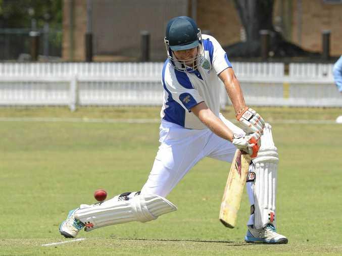Harwood batsman Nathan Ensbey during the CRCA match between Harwood and Coutts at Ellem Oval Grafton on Saturday, 19th November, 2016.