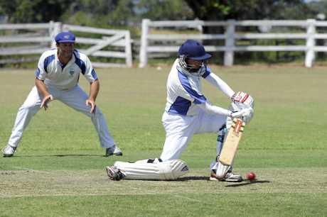 Tucabia batsman Andrew Buchanan during the CRCA match between Harwood and Tucabia at Small Park Ulmarra, Saturday 20th February, 2016. Photo Debrah Novak / The Daily Examiner