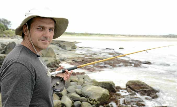 SADLY MISSED: Robert Colyn of Ashby, fishing on Turners Beach Headland in 2014. Photo Debrah Novak / The Daily Examiner