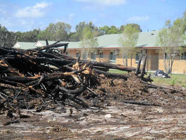 BURNT OUT: The site of a fire at a Mt Coolum development site that started overnight, after the burn. The site borders an aged care facility on Suncoast Beach Dr.