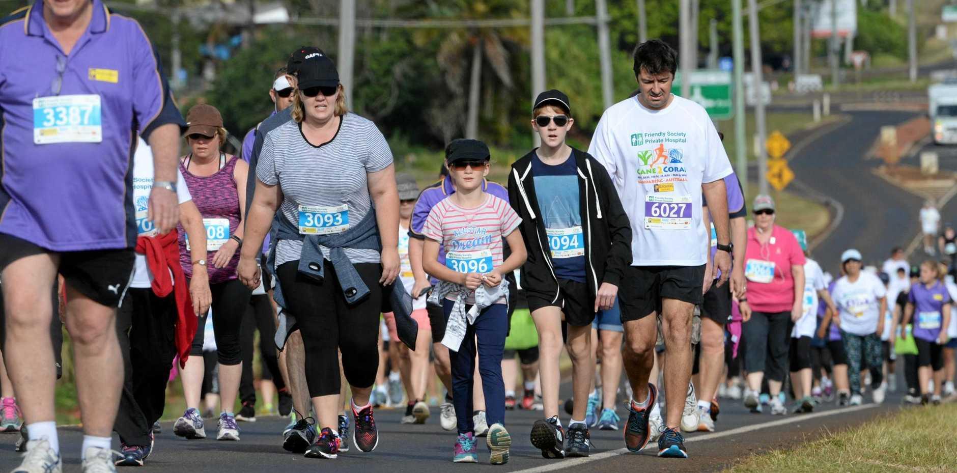 The 2016 Cane2Coral fun run from Bundaberg to Bargara.