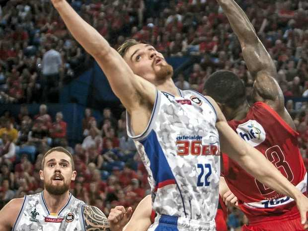 Anthony Drmic of the Adelaide 36ers was involved in the incident with Brisbane's Daniel Kickert.