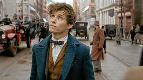 FOR REVIEW AND PREVIEW PURPOSES ONLY. Eddie Redmayne in a scene from the movie Fantastic Beast and Where To Find Them. Supplied by Warner Bros.