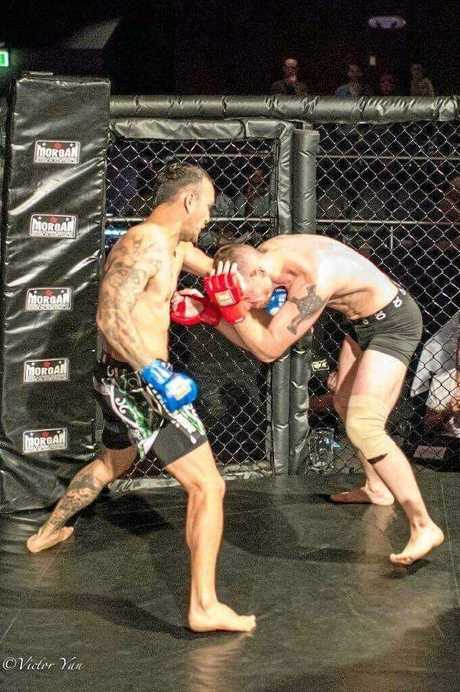 Joel Danger during his WKBF Australian Welterweight title fight in Sydney.