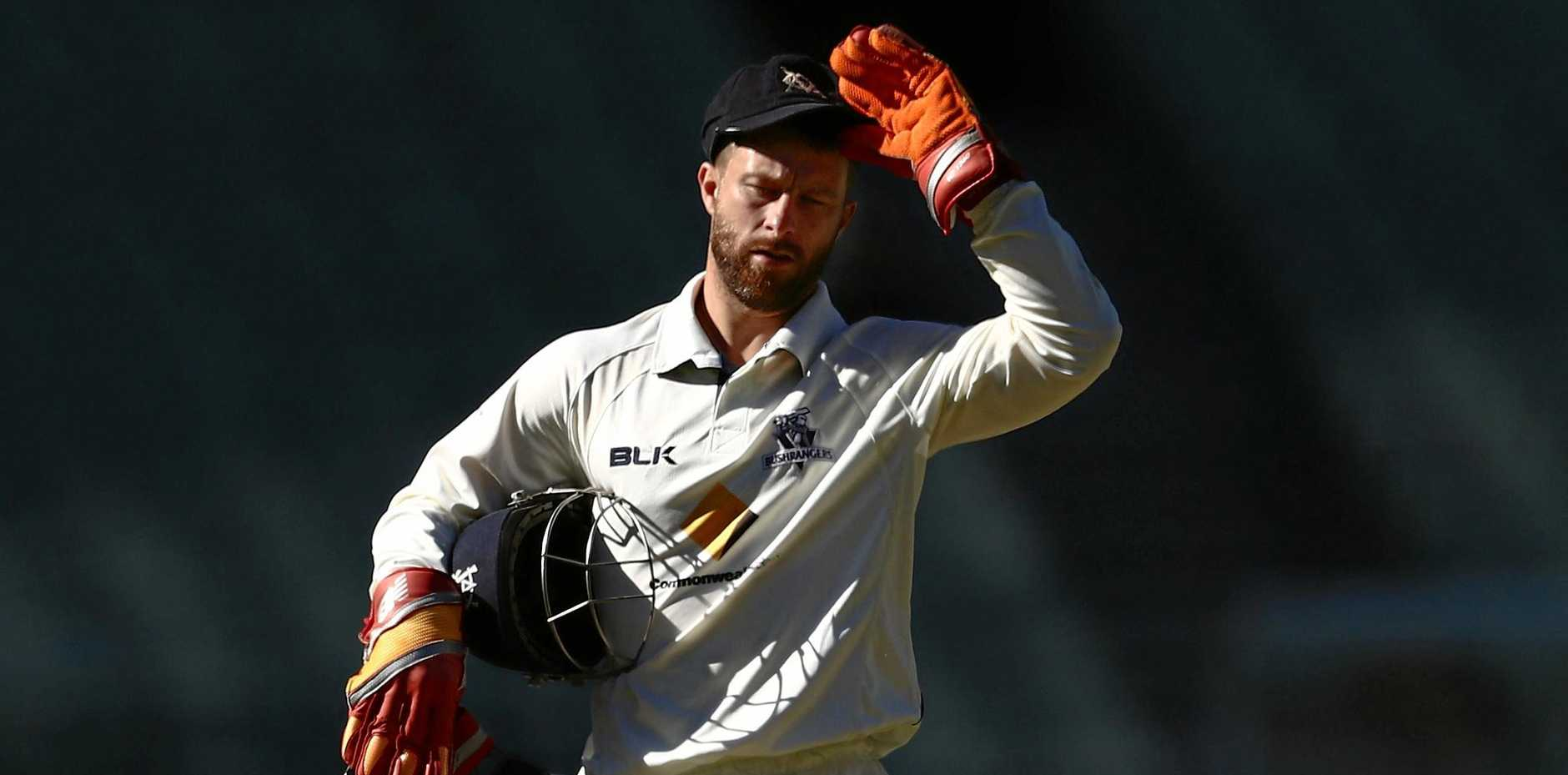 Matthew Wade of Victoria during the Sheffield Shield match against Tasmania at the Melbourne Cricket Ground last month.