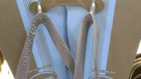 What colour are these thongs? It's the question dividing the internet.