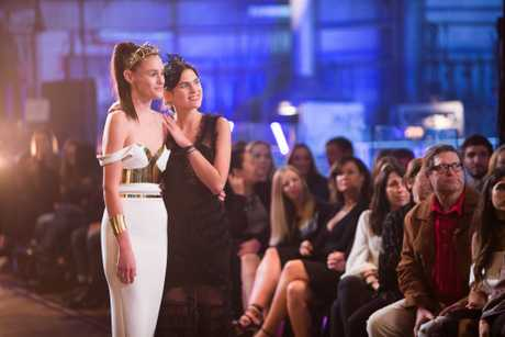 Australia's Next Top Model finalists Aleyna FitzGerald and Sabine Jamieson pictured during the show's grand final.