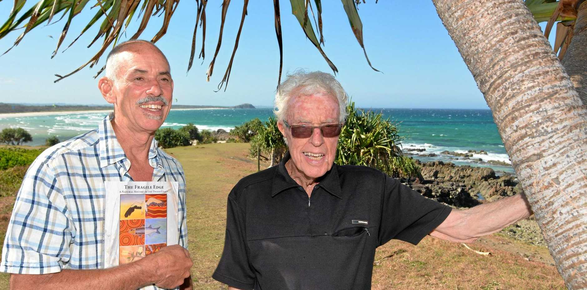 WONDER EXPERTS: The Fragile Edge editor Michael DeGood and David Rae, aged 88, the primary contributor to the Human Impacts chapter.