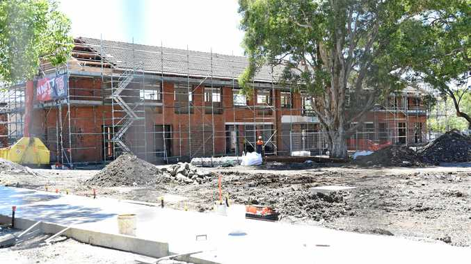 TAKING SHAPE: Works take place on the new regional gallery site near the conservatorium in Lismore.