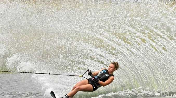 MAKING A SPLASH: Glennie Student Grace Griffiths has been selected to the national waterski team.