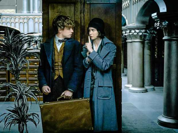 FANTASTIC PAIRING: Eddie Redmayne and Katherine Waterston in a scene from the movie Fantastic Beasts and Where To Find Them.