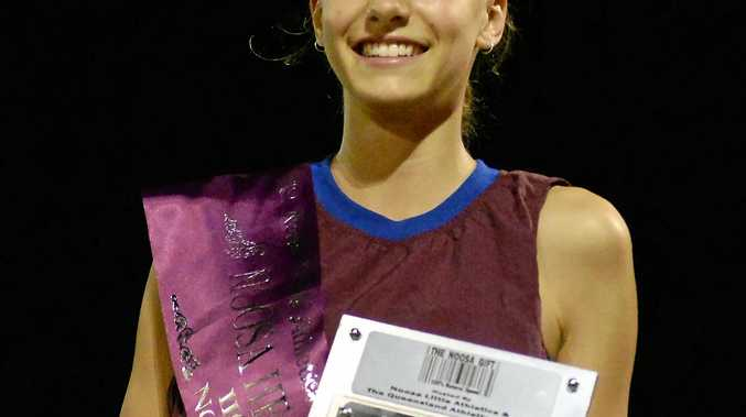 ATHLETICS: Hometown runner Samantha Stanley created history at the Noosa Gift on Saturday night, becoming the first female and the youngest competitor to win the 110m handicap race.
