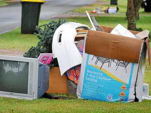 'Kerbing' the problem of a rising pile of rubbish