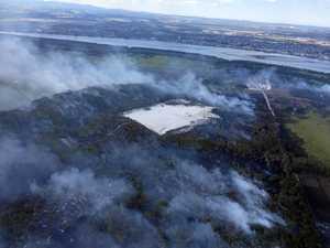 South Ballina bushfire still smouldering underground