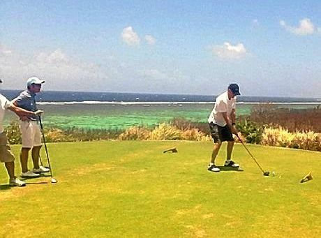 Golfers play in last year's Sigatoka District Hospital Charity Golf Day at Natadola Bay Championship Golf Course, Fiji.