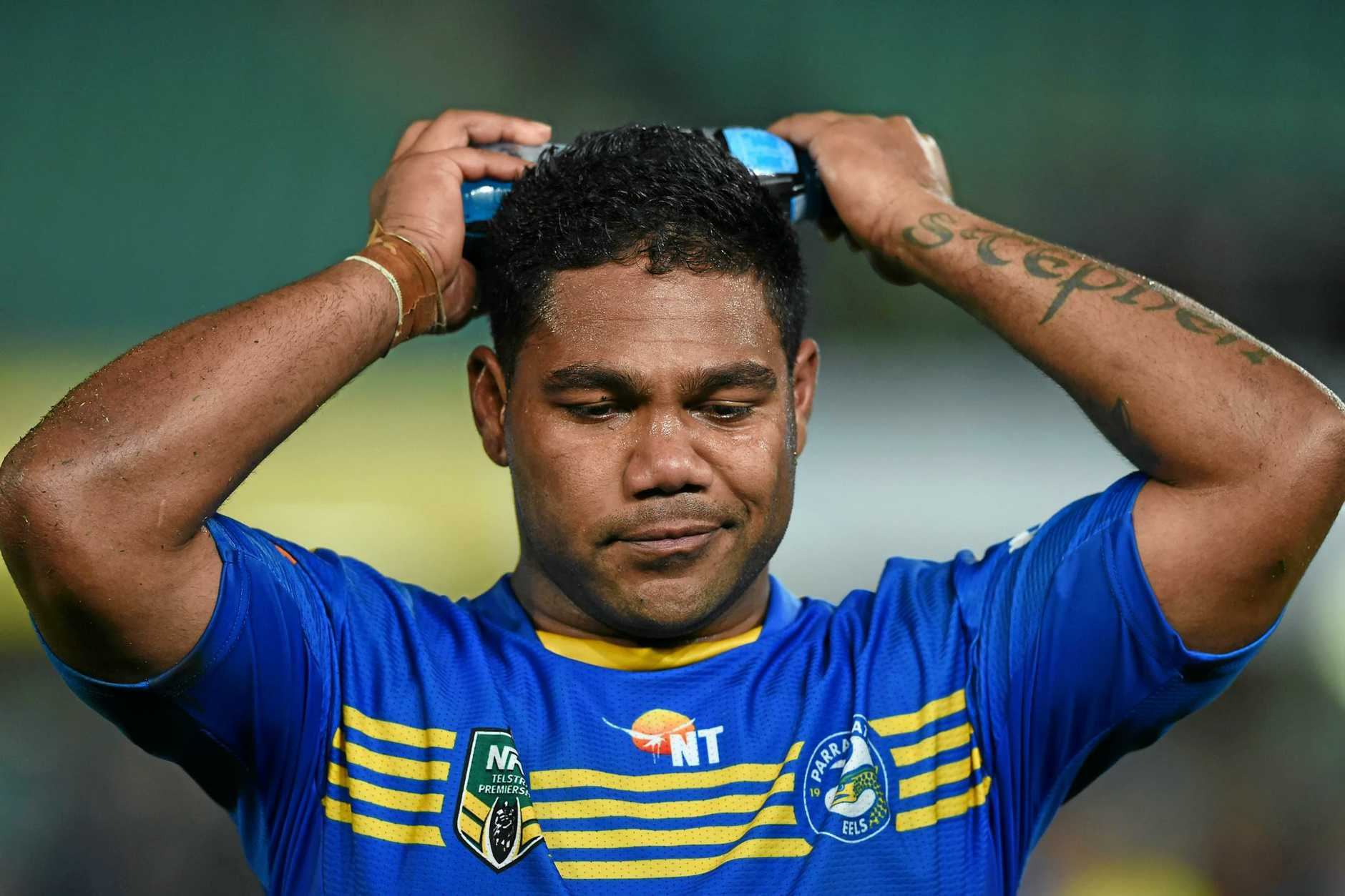 Chris Sandow during his time with the Parramatta Eels.