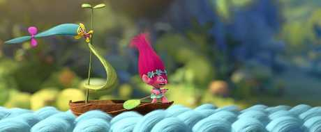 FOR REVIEW AND PREVIEW PURPOSES ONLY. A scene from the movie Trolls. Supplied by Twentieth Century Fox.