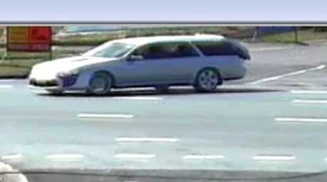 CCTV footage shows Graeme Neylan's mobility scooter being stuffed into the back of this silver stationwagon