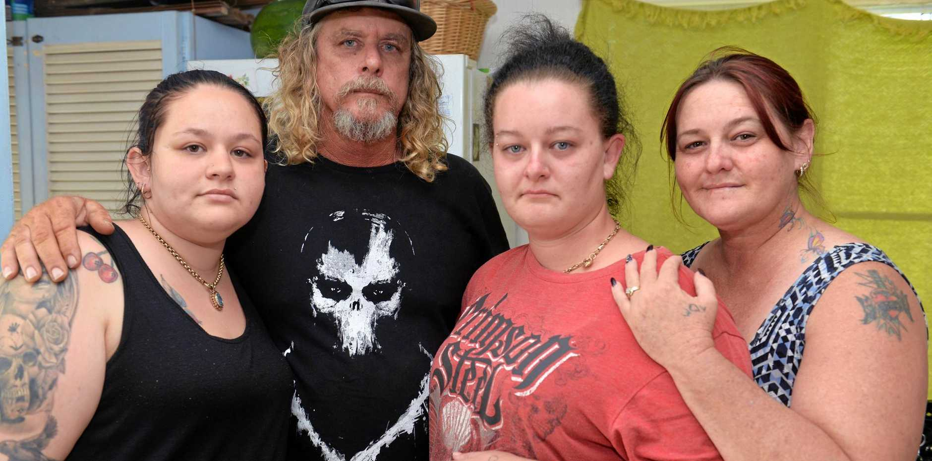 TRAGIC LOSS: Lucy Anderson (left) Chris Anderson, Kaylah Horder and Anne Anderson are mourning the loss of their son and brother.