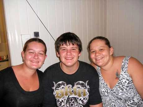 Zenneth Anderson with his older sisters Kaylah Horder and Lucy Anderson.