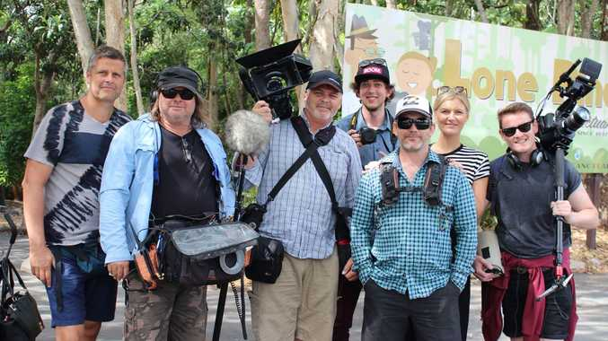 Will Wood (Boom cap) with the crew from Lion TV.