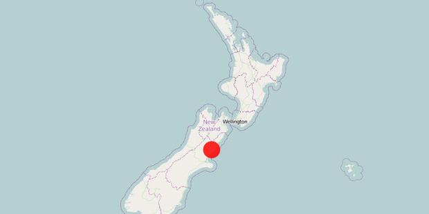 The 23km deep quake struck 20km southeast of Culverden at 6.13pm. Photo / GeoNet