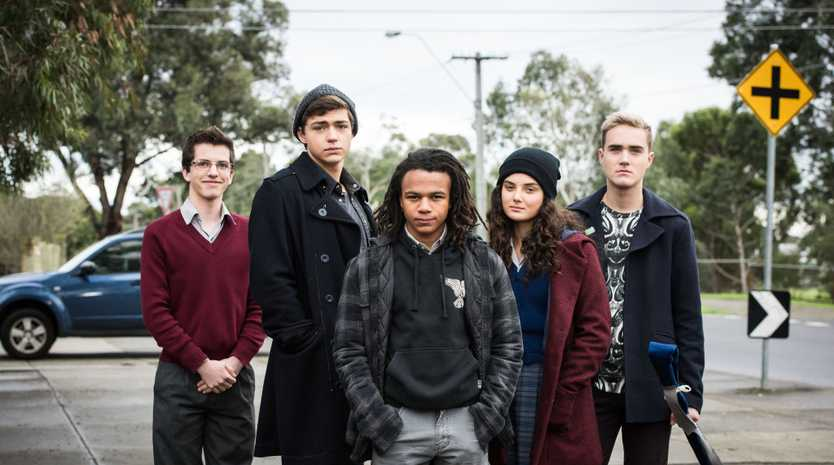 The cast of Nowhere Boys: Two Moons Rising, from left, William McKenna, Jo Klocek, Kamil Ellis, Luca Sardelis and Jordie Race-Coldrey.