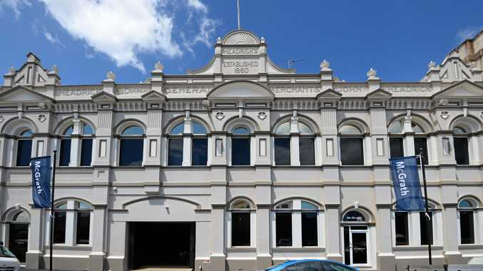 STREET VIEW: The heritage listed Headricks Building on East Street Rockhampton.