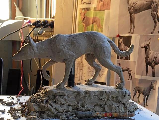 HOW THIS?: Small prototype of the Bonalbo dog statue.