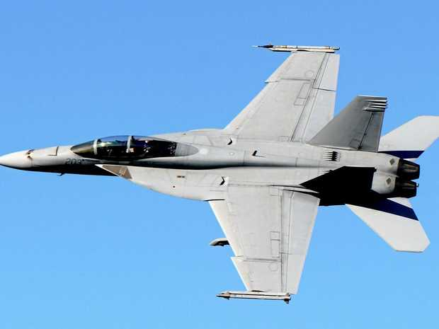 EYES TO THE SKY: Super Hornet will fly over the Sunshine Coast today.