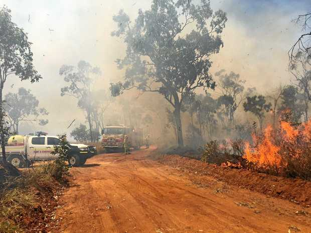 With hot and dry conditions, residents are being urged to prepare for bush fires. QFES and Isaac Regional Council undertaking a hazard reduction burn earlier this year near Glenden.
