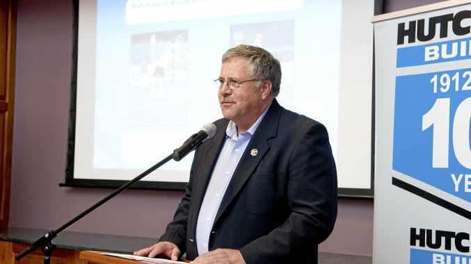 BACK: Toowoomba Tennis Association president Allen Smythe.
