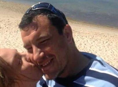 Missing man Aaron Flynn with his former partner, Julia Varinelli.