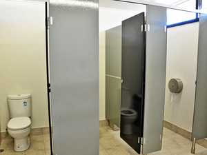At what age should children use public toilets alone?