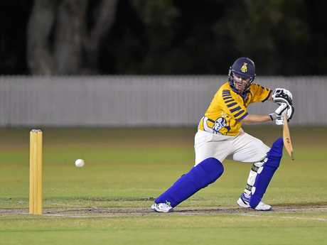 Gympie play Maroochydore in the Tier 1 Caloundra Events Centre T20 cricket final.Gympie batsman Lewis Waugh top scored with 46.