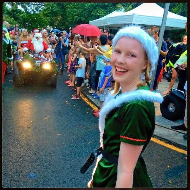 Ayla Long enjoys being part of the fun of Hastings St, Noosa, at Christmas.