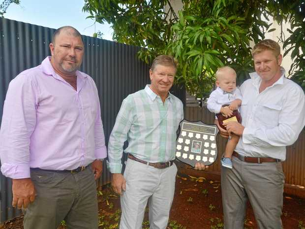 TOP CROP: Competition judge and CQ Commodities manager Craig Wade with winners John, Lincoln and Dane Lund.
