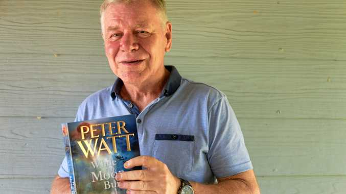 TRADE SECRETS: Maclean author Peter Watts with his new novel While the Moon Burns.