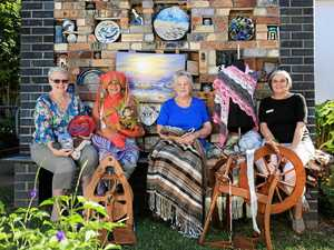 Old-fashioned goods at Unlimited Arts craft fair