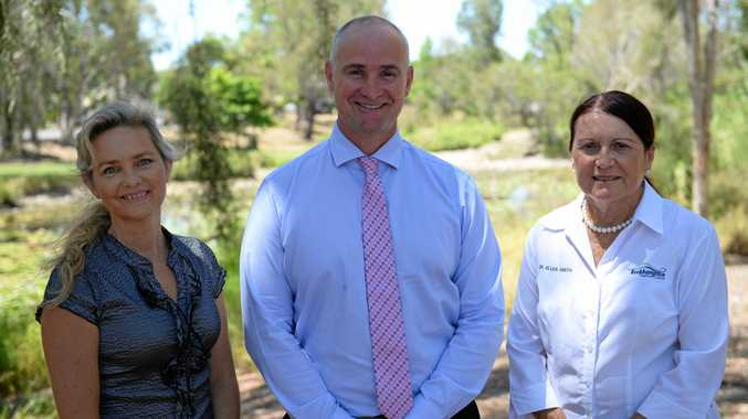 Deputy Mayor Cherie Rutherford, Assistant Minister for Local Government and Infrastructure Glenn Butcher and Cr Ellen Smith.